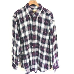 NWT! Woolrich Flannel Plaid Button Down Shirt XL